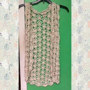 DKNY crochet vest size xs